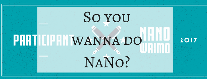 So you wanna do NaNo-